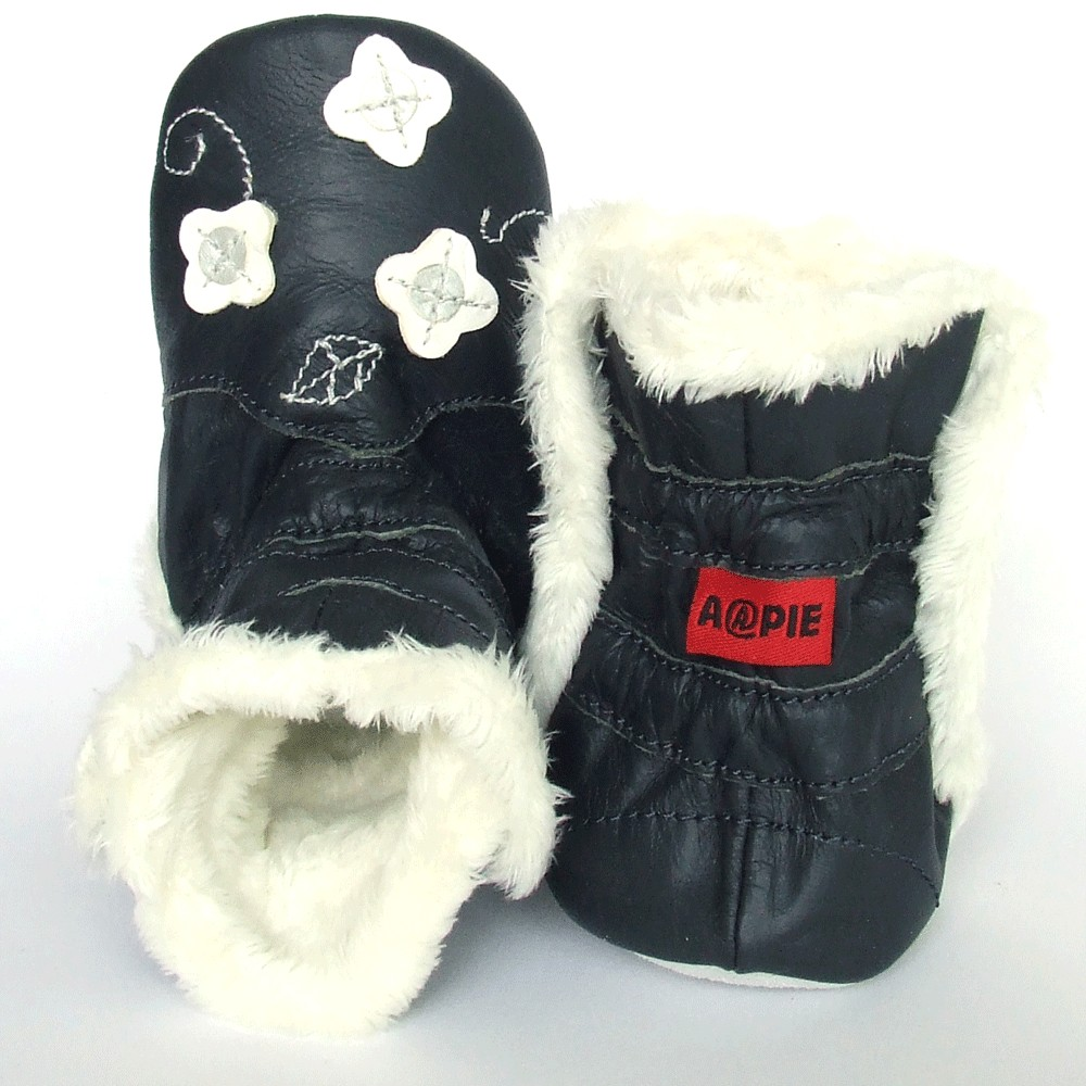 Winterboot Flower Marine White
