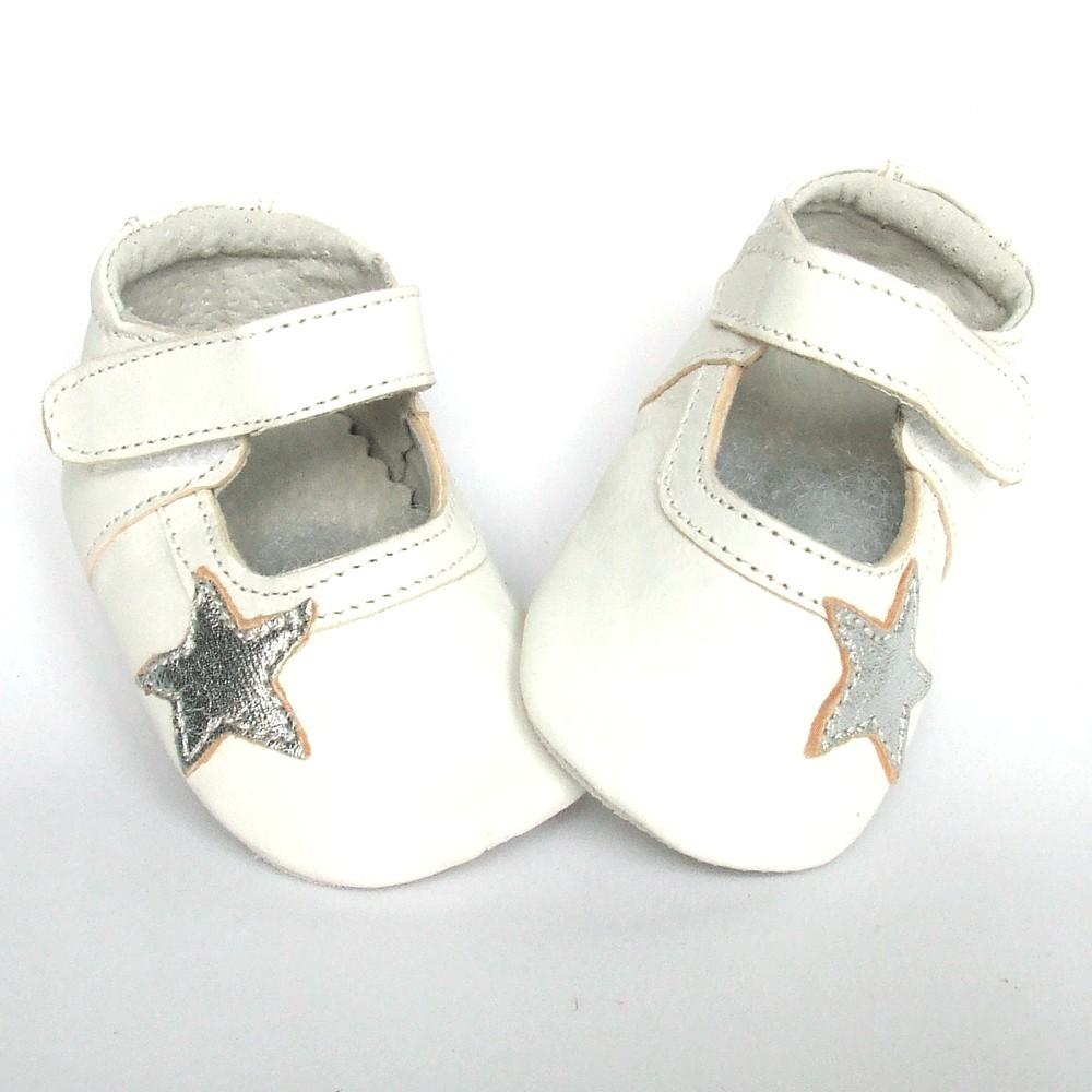 Leren babyslofje Blossom Star White