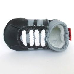 Babyslofjes Leren babyslofjes gevoerd Artic Black €20,99