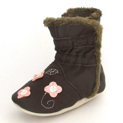 Babyslofjes Winterboot Flower Brown € 22,99