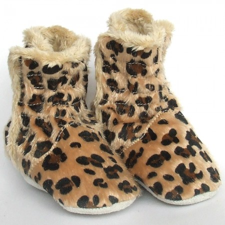 Babyslofjes Winterboot Leopard €19,99