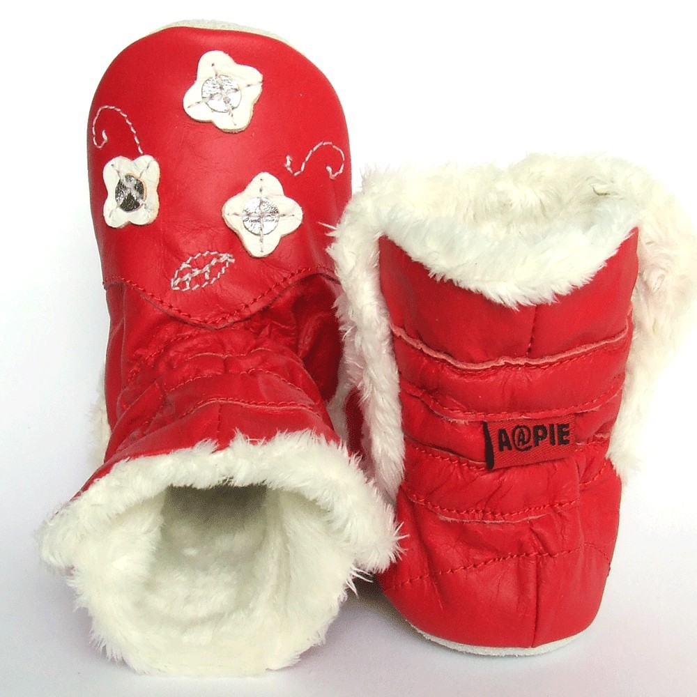 Babyslofjes Winterboot Flower Red € 22,99