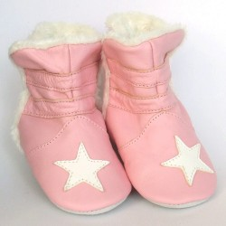 Babyslofjes Winterboot Star Pink € 22,99