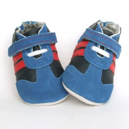 Babyslofjes Bebou Blue Red € 18,99