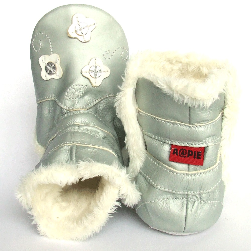 Winterboot Flower Silver White