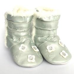 Babyslofjes Winterboot Flower Silver €22,99