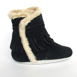 Babyslofjes Winterboot Indian Black € 22,99