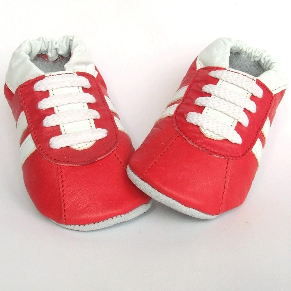 Babyslofjes leer Sport Red