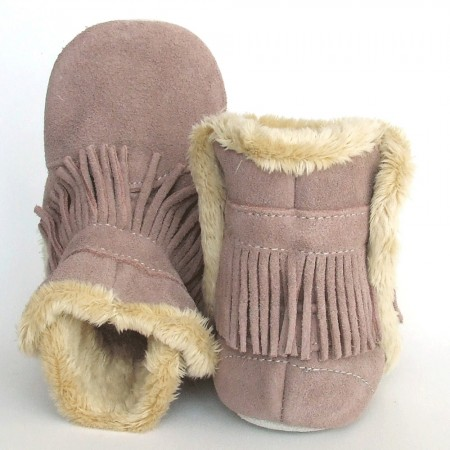 Babyslofjes Winterboot Indian Old Pink € 20,99