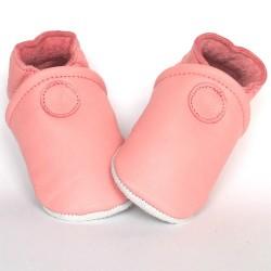 Babyslofjes Leren slofje Basic Pink €15,49
