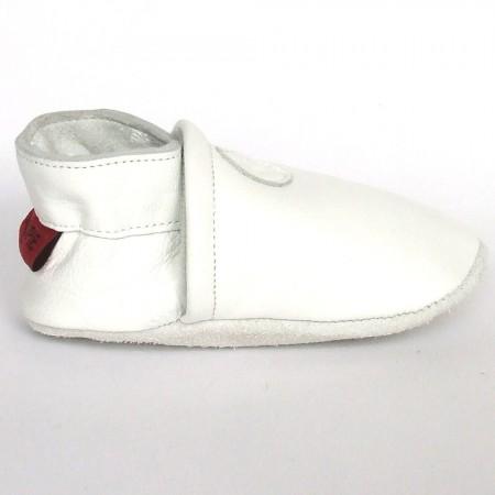 Babyslofjes Leren slofje Basic White €15,49