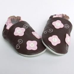 Babyslofjes Happy Flower Brown €15,49