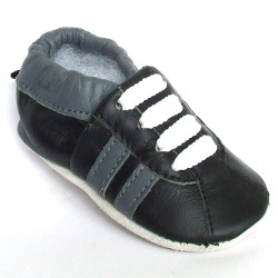 Babyslofjes Leren babyslofjes Retro Black €17,49