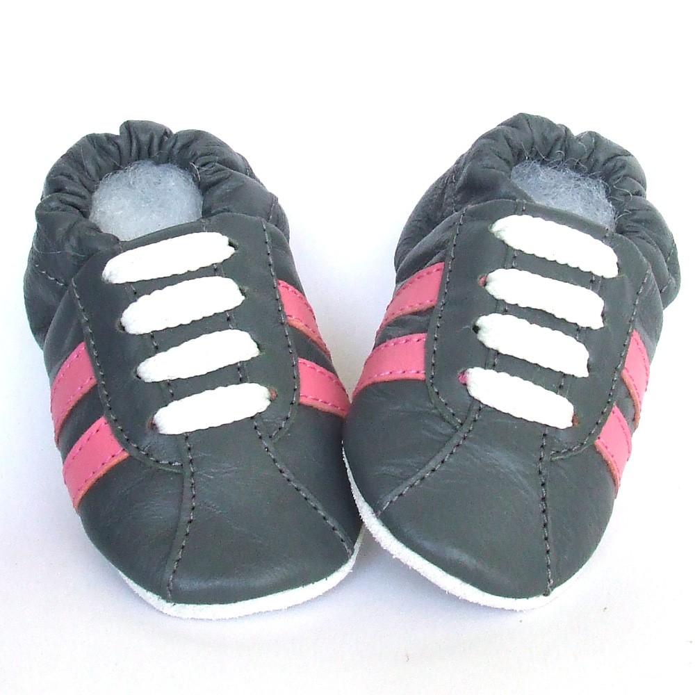 Babyslofjes Leren babyslofjes Retro Stone Pink €17,49