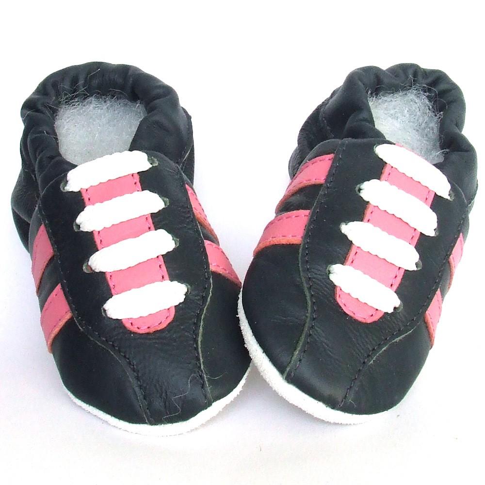 Babyslofjes Leren babyslofjes Retro Marine Pink €17,49