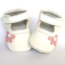 Babyslofjes Leren babyslofje Blossom White Pink €19,49