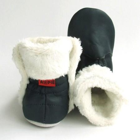 Babyslofjes Babylaarsjes leer Eskimo Marine €22,99