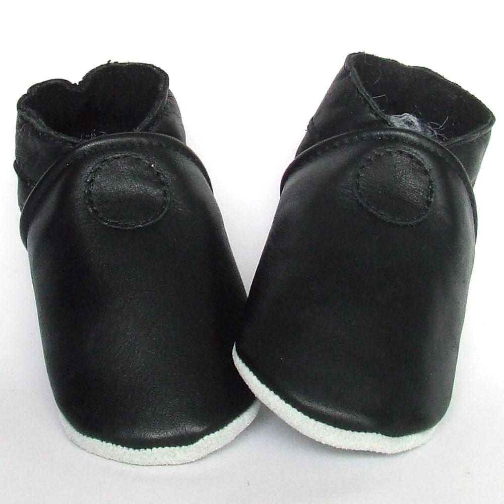 Babyslofjes Leren slofje Basic Black €15,49