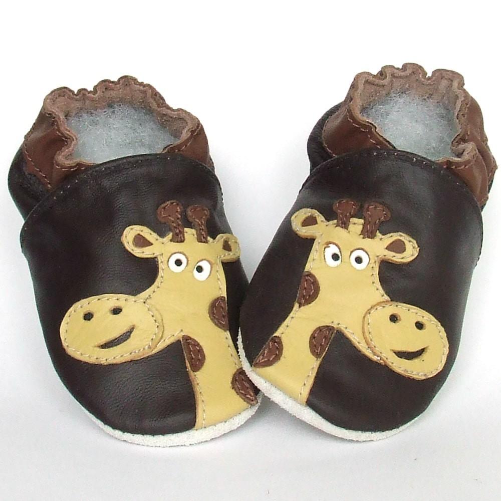 Babyslofjes Babyslofjes leer Giraffe Brown €15,49