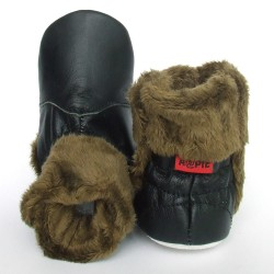 Babyslofjes Babylaarsjes leer Eskimo Black €22,99