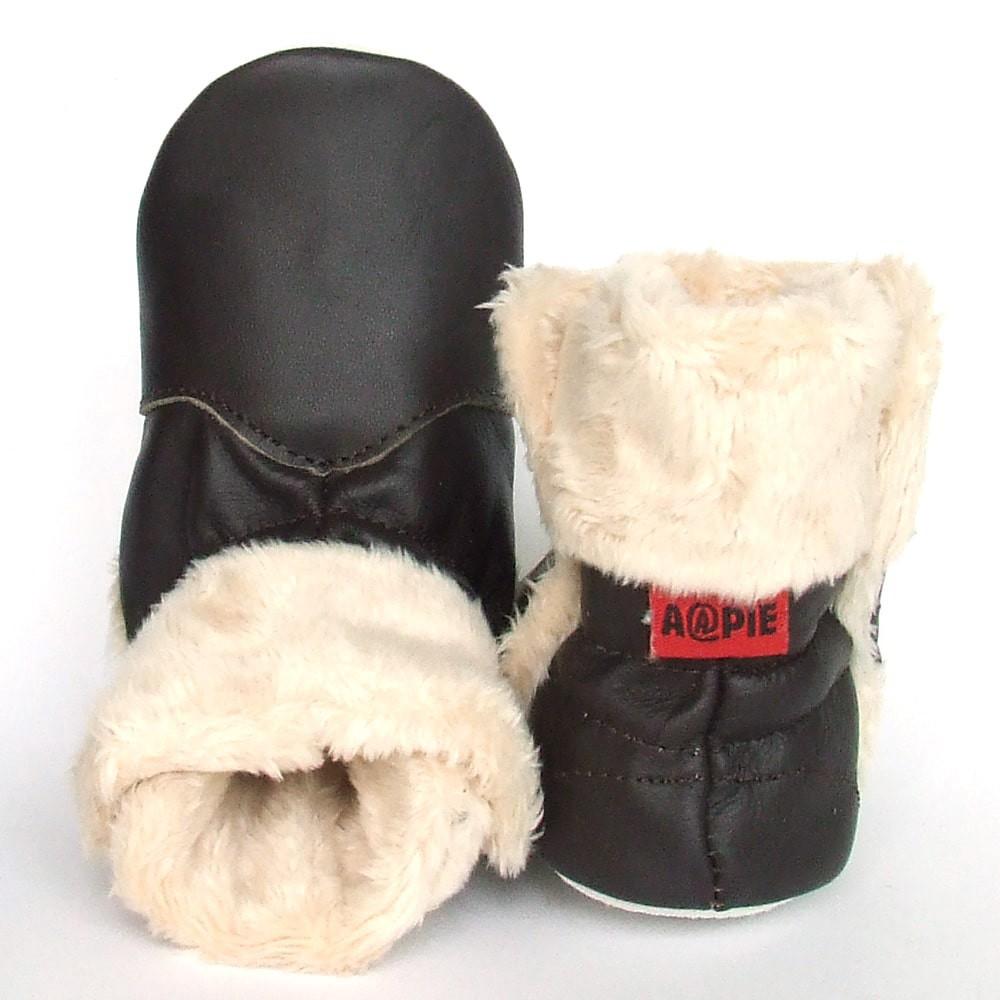Babyslofjes Babylaarsjes leer Eskimo Brown €22,99
