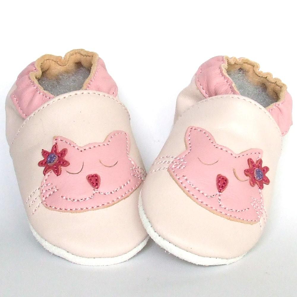 Babyslofjes Babyslofjes leer Snoozing Kitty €15,49