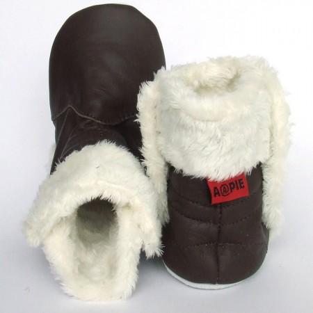Babyslofjes Babylaarsjes leer Eskimo Oak €22,99