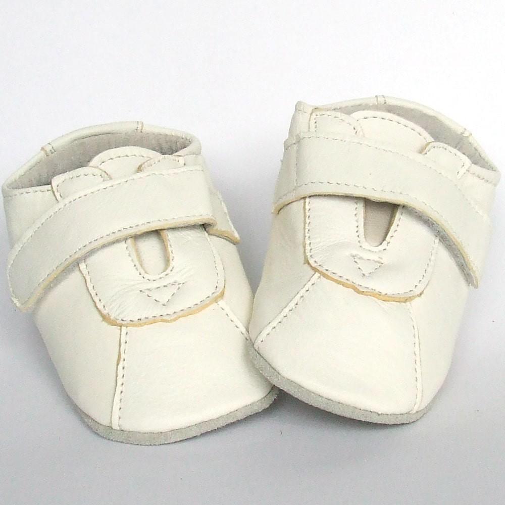 Babyschoentjes leer Classic White