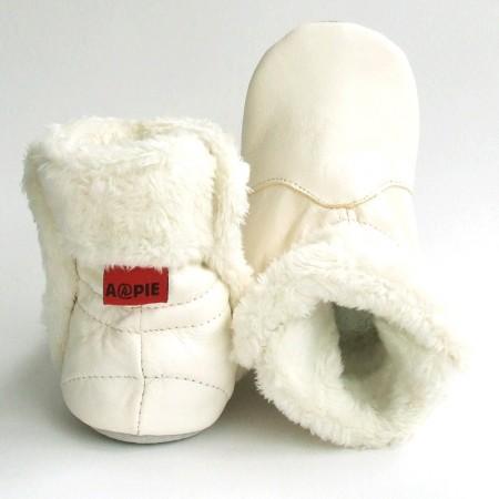 Babyslofjes Babylaarsjes leer Eskimo Snow €22,99