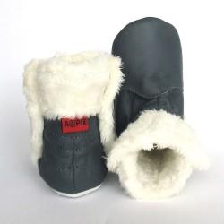 Babyslofjes Babylaarsjes leer Eskimo Stone €22,99