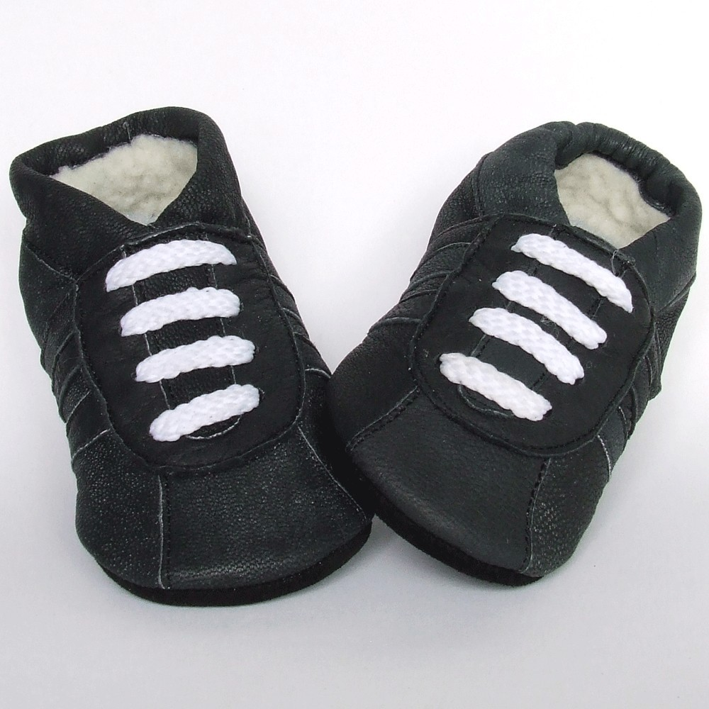 Babyslofjes Leren babyslofjes gevoerd Artic Old Black €20,99