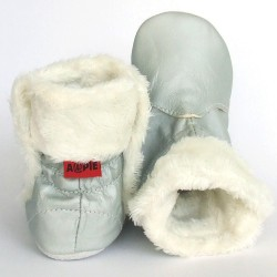 Babyslofjes Babylaarsjes leer Eskimo Metal €23,99
