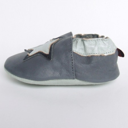 Babyslofjes Star Grey € 15,99