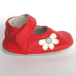 Babyslofjes Leren babyslofje Blossom Red €19,49