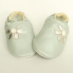 Babyslofjes Half Flower Silver €15,99