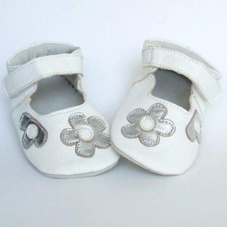 Babyslofjes Ballerina White Silver €17,99