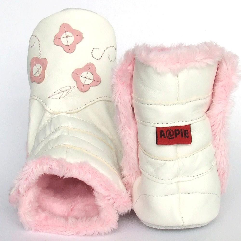 Babyslofjes Winterboot Flower Pink €22,99
