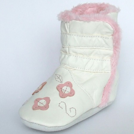 Babyslofjes Winterboot Flower Pink € 22,99