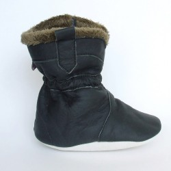 Babyslofjes Cowboyboot Artic Black € 24,99