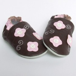 Babyslofjes Happy Flower Brown € 15,49