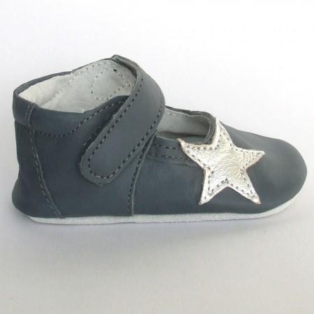 Babyslofjes Leren babyslofje Blossom Star Stone €19,49