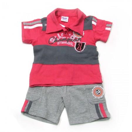 Babykleding 2 delig pakje 'Champion' fuchsia €14,95