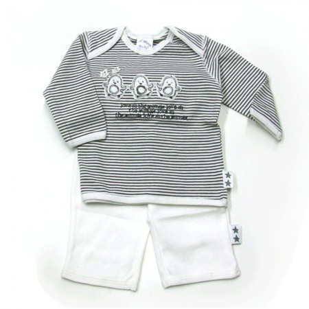Babykleding 2-delig pakje 'Love all animals' € 14,95