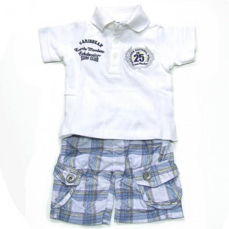 Babykleding 2 delig setje 'Boy's Caribbean' wit €24,95