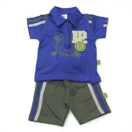 Babykleding 2 delig setje 'Original Players' kobalt €14,95