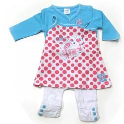 Babykleding 3 delig pakje 'Aloha Cutie' turquise/wit €19,95