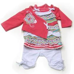 Babykleding 3 delig pakje 'D for Dirkje' €24,95