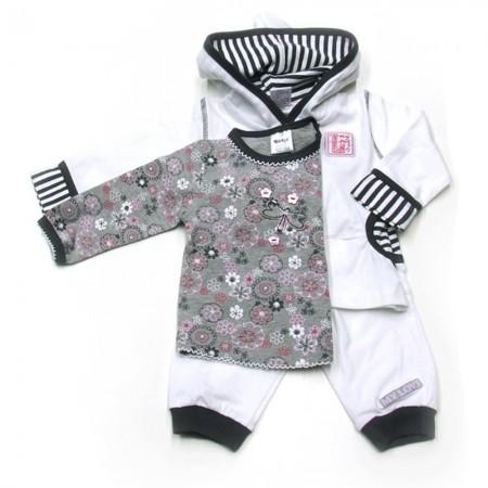 Babykleding 3 delig pakje 'My Love' wit €22,50