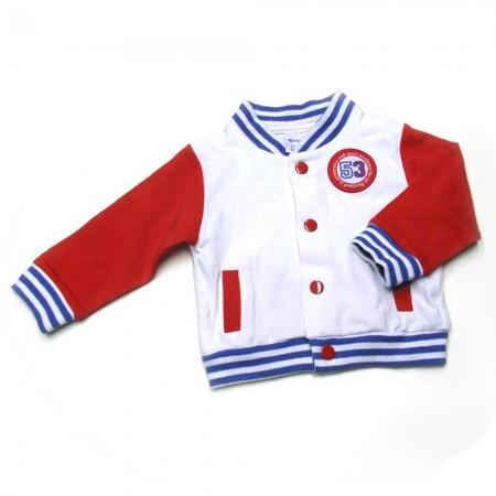 Babykleding 3 delig pakje 'Portland' rood/wit €24,95