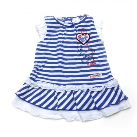 Babykleding 3 delig pakje 'Summer' blauw/wit €22,50